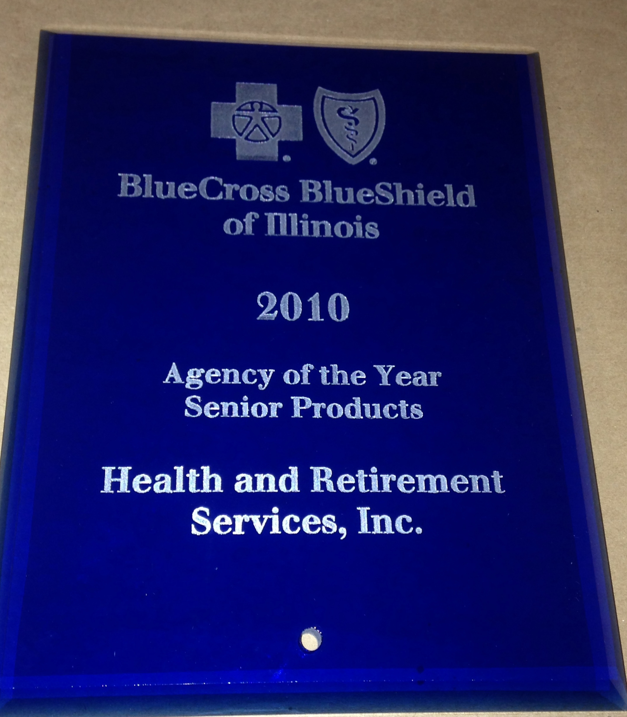 BlueCross BlueShield of Illinois 2010 agency fo the year senior products