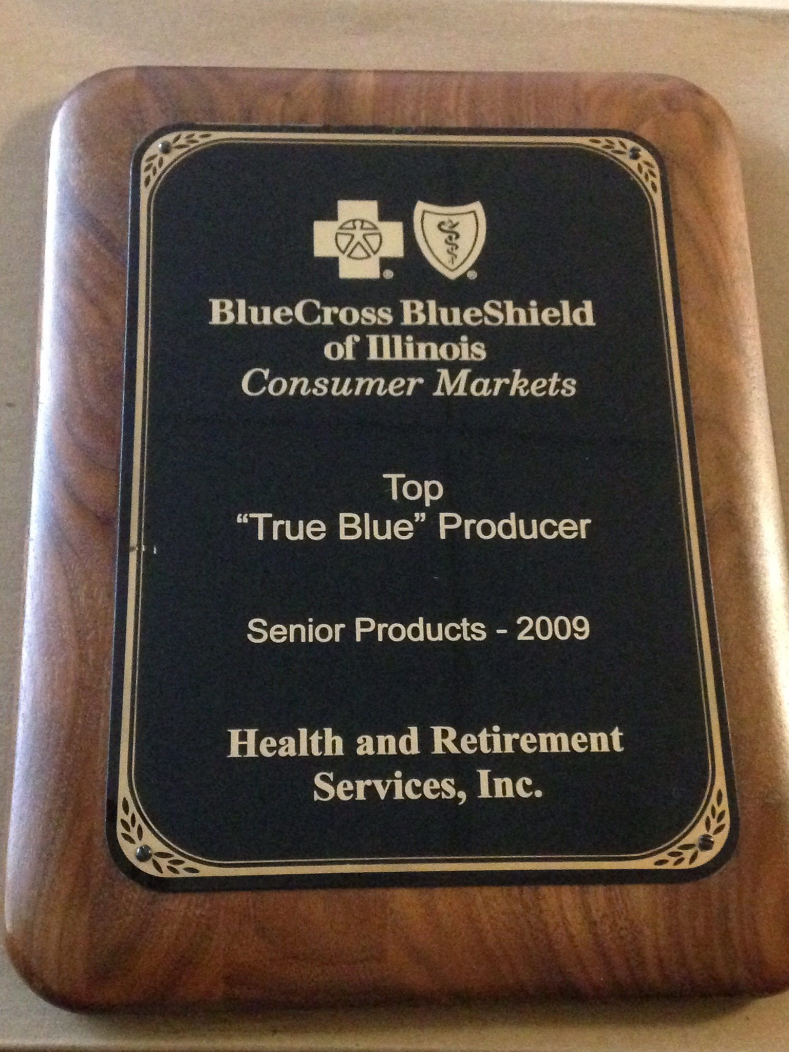 BlueCross BlueShield of Illinois 2009 top producer