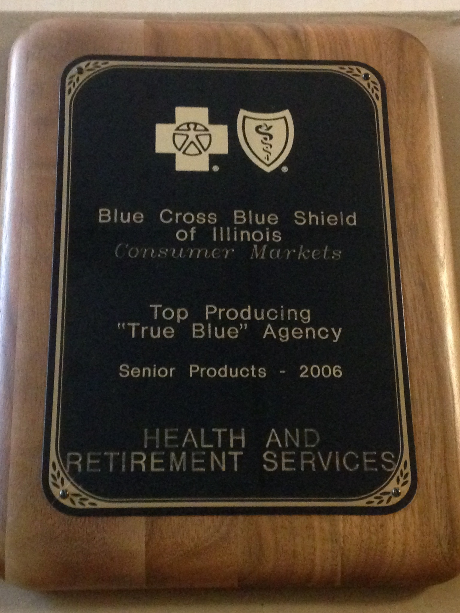 BlueCross BlueShield of Illinois 2006 top producer